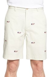 Men's Vineyard Vines Embroidered Whale Chino Shorts Stone