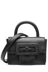 Maison Martin Margiela Maison Margiela Leather Petite Satchel With Oversized Buckle Black