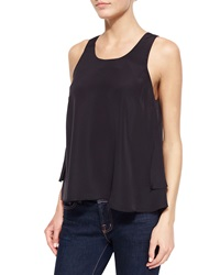 Madison Marcus Layered High Low Tank Black
