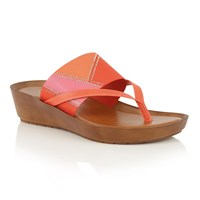 Lotus Josifa Toe Post Sandals Red