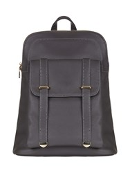 Yumi Faux Leather Casual Backpack Grey
