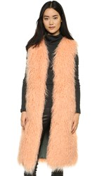 Shrimps Darcy Long Vest Peach
