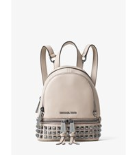 Rhea Extra Small Studded Leather Backpack