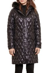 Lauren Ralph Lauren Women's Faux Fur Trim Hooded Packable Down Coat