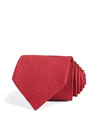 Bloomingdale's The Men's Store At Textured Diagonal Solid Classic Tie Cherry