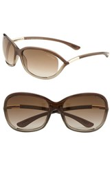 Women's Tom Ford 'Jennifer' 61Mm Oval Frame Sunglasses Regular Retail Price 390.00