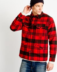 Only And Sons Mens Bomber Jacket Red