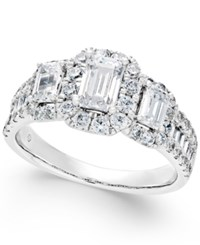 Macy's Diamond Engagement Ring 2 Ct. T.W. In 14K White Gold