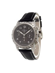 Glashuette Original 'Navigator Chronograph' Analog Watch Black