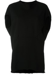 Rick Owens Drkshdw Cap Sleeve Top Black
