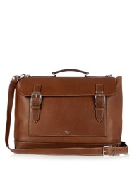Mulberry Grained Leather Messenger Bag Brown