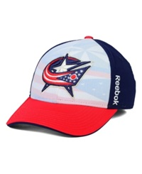 Reebok Columbus Blue Jackets Stretch Fit Cap Red Navy