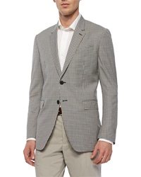 Paul Smith Mini Check Two Button Sport Coat Brown Teal
