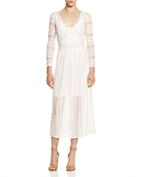 French Connection Wings Lace Midi Dress Winter White