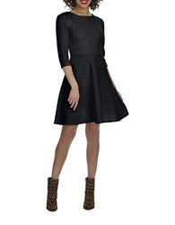 Donna Morgan White Wave Fit And Flare Dress Black