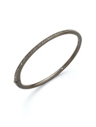 Adriana Orsini Crystal Inlay Bangle Bracelet Silver