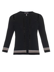 Rochas Logo Patch Lightweight Knit Cardigan