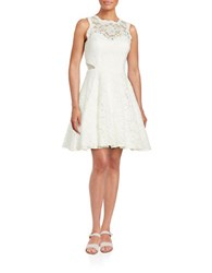 Xscape Evenings Lace Fit And Flare Dress Ivory