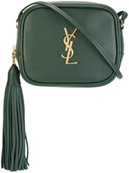 Saint Laurent 'Monogram Blogger' Crossbody Bag Green