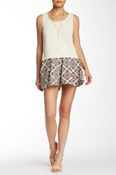 Wild Pearl Printed Pleat Pull On Short No Color