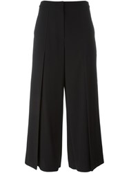 T By Alexander Wang Pleated Cropped Trousers Black