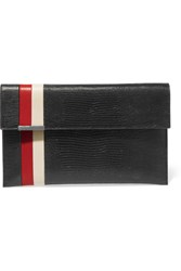 Tomasini Daytona Lizard Effect Leather Clutch Black