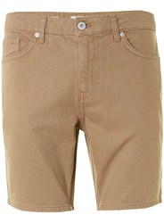 Topman Tan Slim Denim Shorts