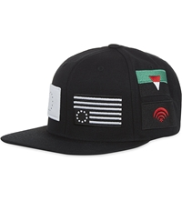 Black Scale Pandemic Snapback Cap Black