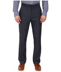Perry Ellis Solid Textured Dress Pants Navy Men's Dress Pants