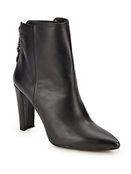 Stuart Weitzman Mizzip Platform Leather Booties Black