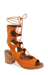 Women's Matisse Lace Up Sandal Rust Suede