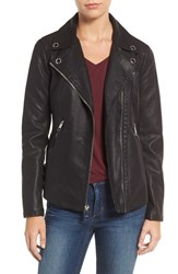 Guess Women's Faux Leather Moto Jacket