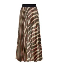 Alice Olivia Maura Pleated Midi Skirt Female Multi