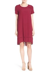 Matty M Short Sleeve Drop Tail Dress Red