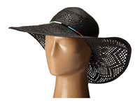 San Diego Hat Company Pbl3067 Round Crown Floppy Sun Hat With Multicolor Thread Beads Black Caps