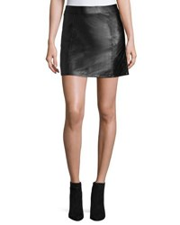 Bishop Young Vegan Leather Mini Skirt Black