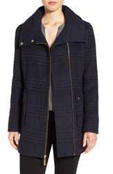 Ellen Tracy Women's Asymmetrical Plaid Coat