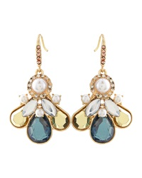 Lydell Nyc Pearly Bead And Crystal Anchor Drop Earrings