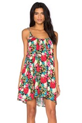 Wildfox Couture Floral Shift Dress Black