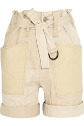 Isabel Marant Verna Stretch Cotton And Linen Blend Shorts White