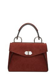 Proenza Schouler Small Hava Nubuck Top Handle Handbag Red