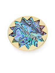House Of Harlow Core Abalone Shell Starburst Ring Gold