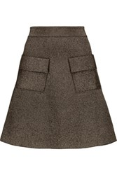 A.L.C. Aaron Metallic Stretch Knit Mini Skirt Army Green