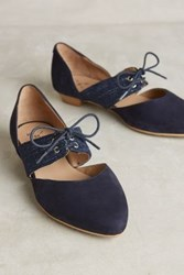 Anthropologie Kmb Cutout Oxfords Navy Nubuck