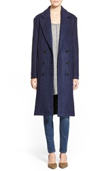The Hanger Boucle Knit Long Coat Navy