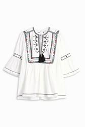 Talitha Women S Embroided Gypsey Top Boutique1 Ivory