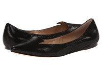 Belle By Sigerson Morrison Vero Black Textured Leather Women's Flat Shoes