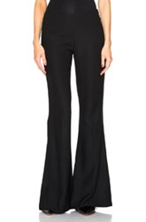 Acne Studios Mello Flare Pants In Black