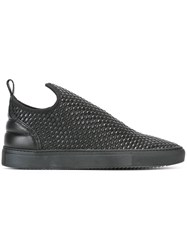 Filling Pieces Woven Slip On Sneakers Black