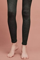 Anthropologie Marlie Ribbed Footless Tights Olive